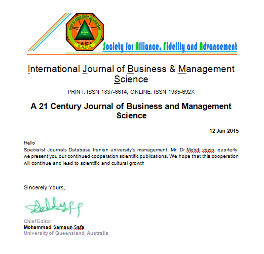 International Journal of Business & Management Science